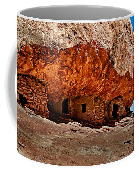 Architecture Coffee Mug featuring the photograph Anasazi Cliff Ruins by Robert Bales