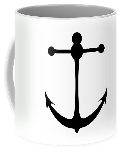 Graphic Art Coffee Mug featuring the digital art Anchor In Black And White by Jackie Farnsworth