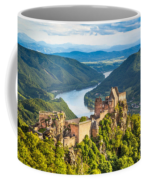 Aggstein Coffee Mug featuring the photograph Ancient Austria by JR Photography