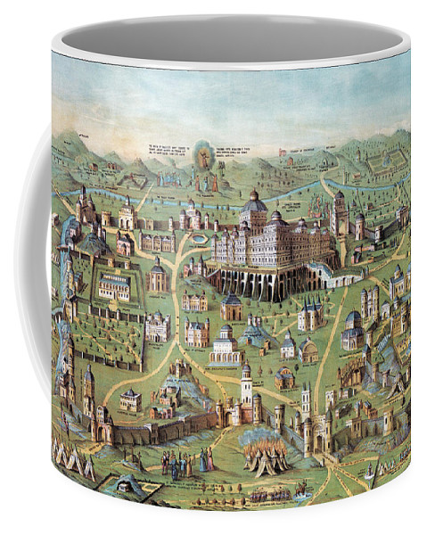 1851 Coffee Mug featuring the photograph Ancient Jerusalem by Granger