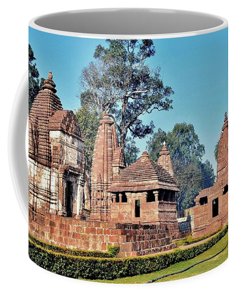 Temple Coffee Mug featuring the photograph Ancient Temple Complex - Amarkantak India by Kim Bemis