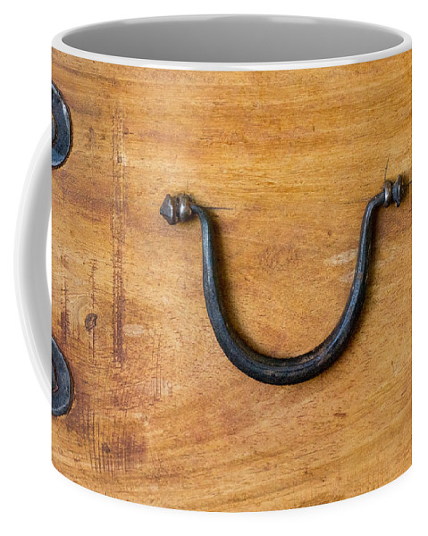 Ancient Coffee Mug featuring the photograph Ancient Wood Box With Handle by Douglas Barnett