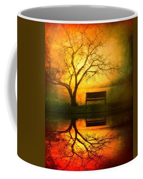 Bench Coffee Mug featuring the photograph And I Will Wait For You Until the Sun Goes Down by Tara Turner