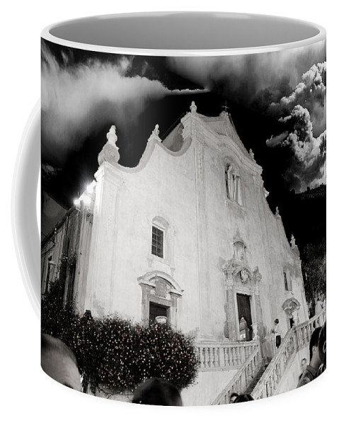 Church Coffee Mug featuring the photograph And The People Came by Madeline Ellis