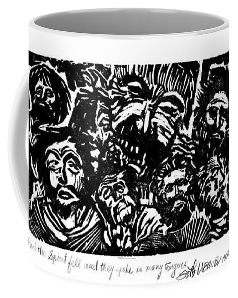 And The Spirit Fell Coffee Mug featuring the relief And the Spirit Fell by Seth Weaver