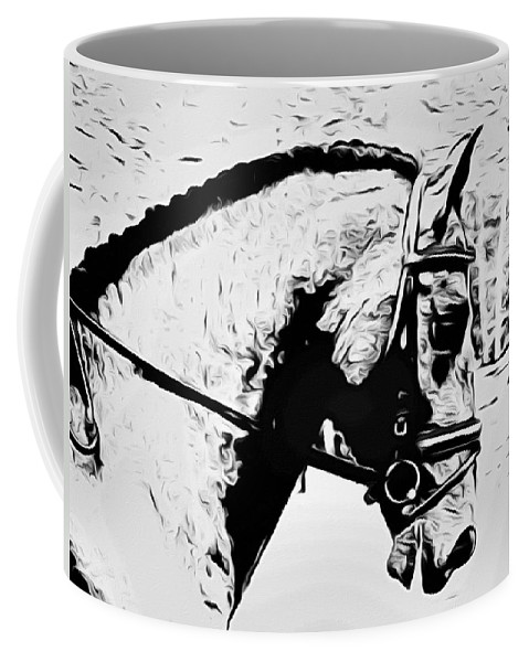 Horse Coffee Mug featuring the photograph Andalusian Elegance by Alice Gipson