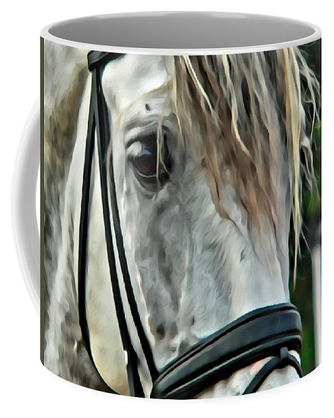 Horse Andalusian Portrait Head Coffee Mug featuring the photograph Andalusian Eye by Alice Gipson
