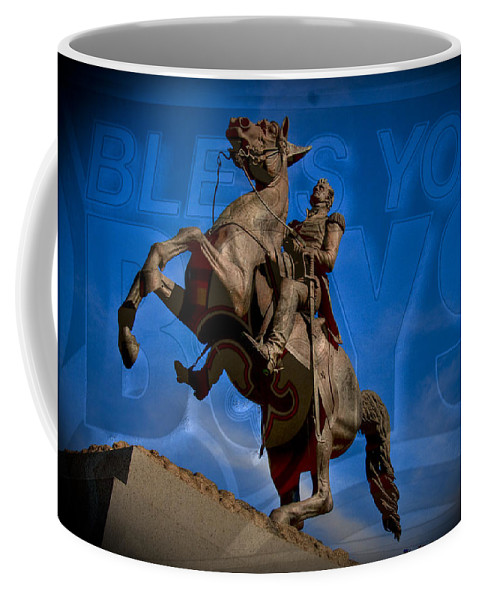 New Orleans Saints Coffee Mug featuring the photograph Andrew Jackson And New Orleans Saints by Ron White