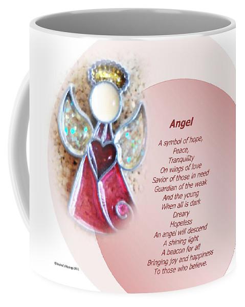 Angel Coffee Mug featuring the mixed media Angel by Lovina Wright