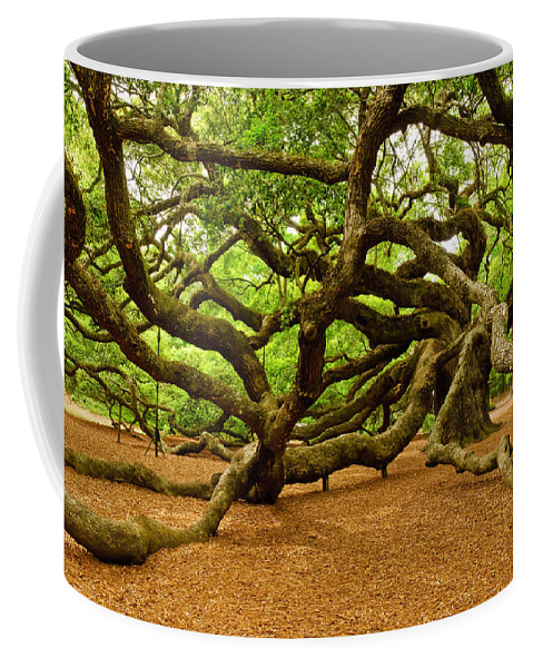 Nature Coffee Mug featuring the photograph Angel Oak Tree Branches by Louis Dallara