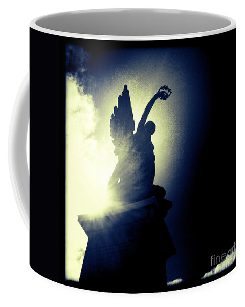 Statue Coffee Mug featuring the photograph Angel Of Africa by Neil Overy