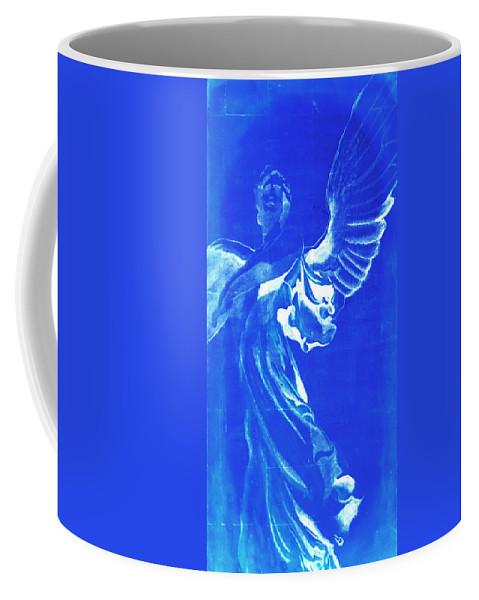 Angel Coffee Mug featuring the painting Angel Of The Horizon by Giorgio Tuscani