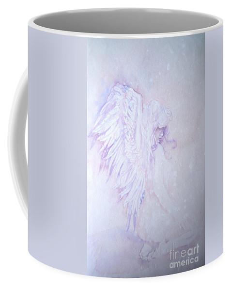 Angel Snow Coffee Mug featuring the painting Angel by Sandra Phryce-Jones