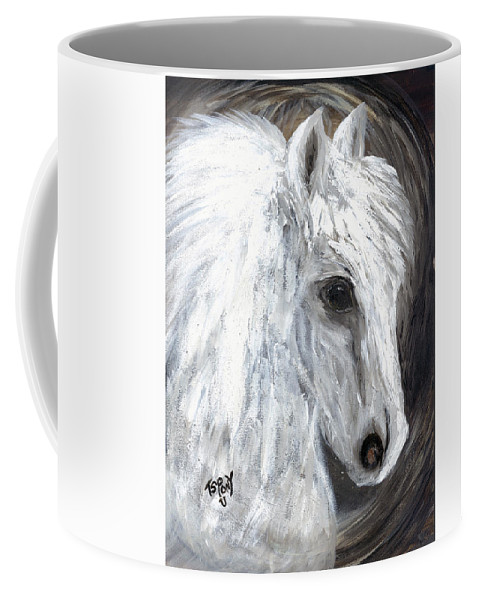Angel Coffee Mug featuring the painting Angel by Barbie Batson