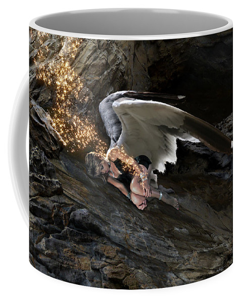 Alex-calderon Coffee Mug featuring the photograph Angels- He Will Bring Peace To Your Heart by Acropolis De Versailles