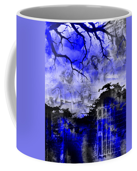 Angels Coffee Mug featuring the digital art Angels In Gothica by Michael Damiani