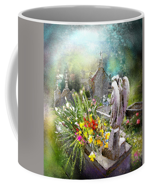 All Saints Coffee Mug featuring the painting Angels Of Stone by Miki De Goodaboom