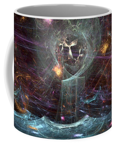 Angel Coffee Mug featuring the digital art Angels Peril On The Sea by Russell Kightley