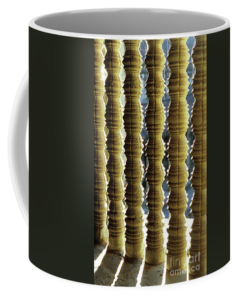Angkor Coffee Mug featuring the photograph Angkor Wat Colonnettes 01 by Rick Piper Photography