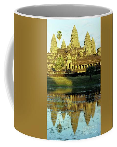 Angkor Coffee Mug featuring the photograph Angkor Wat Reflections 02 by Rick Piper Photography
