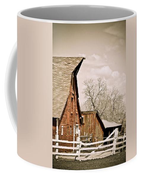 Americana Coffee Mug featuring the photograph Angle Top Barn by Marilyn Hunt