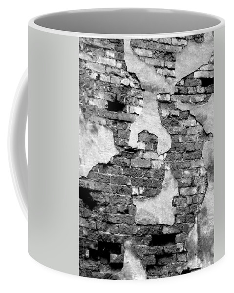 Brick Coffee Mug featuring the photograph Angry Decay by Donna Blackhall