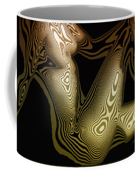 Woman Coffee Mug featuring the digital art Animal Magnetism by Donna Blackhall