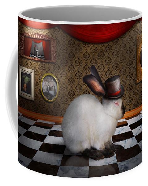 Rabbit Coffee Mug featuring the photograph Animal - The Rabbit by Mike Savad