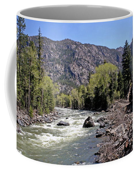 Mountains Coffee Mug featuring the photograph Animas River by Shirley Roberson