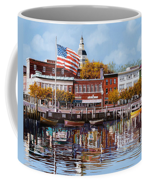 Annapolis Coffee Mug featuring the painting Annapolis by Guido Borelli