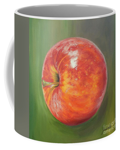 Apple Coffee Mug featuring the painting Another Apple by Graciela Castro