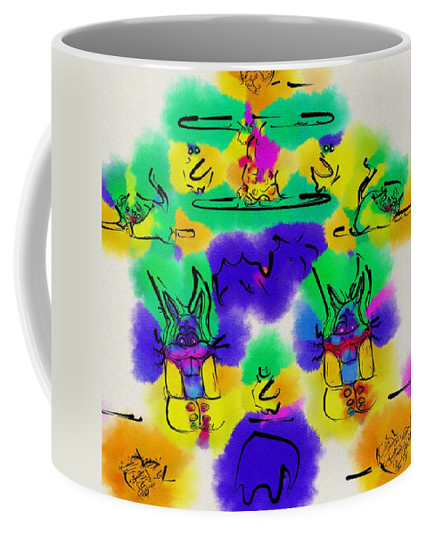 Landscape Coffee Mug featuring the mixed media Another Blueprint In Abstract by Pepita Selles