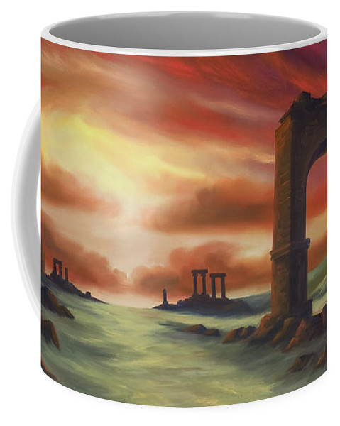 Sunset Coffee Mug featuring the painting Another Fallen Empire by James Christopher Hill