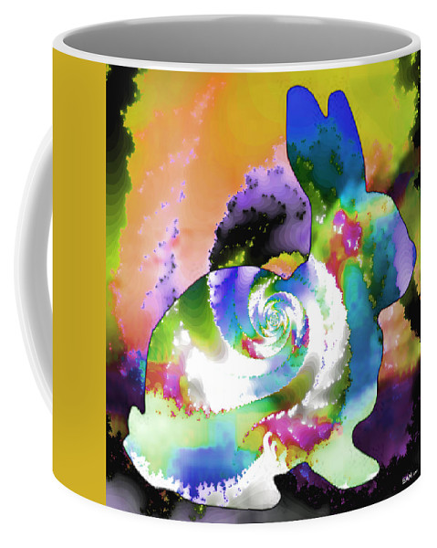 Fractal Art Coffee Mug featuring the digital art Another Rabbit Hole For Alice by Elizabeth McTaggart