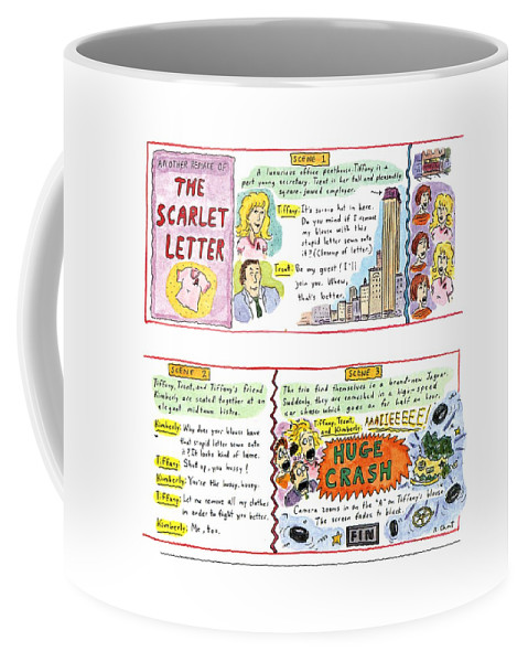 entertainment coffee mug featuring the drawing another remake of the scarlet letter by roz