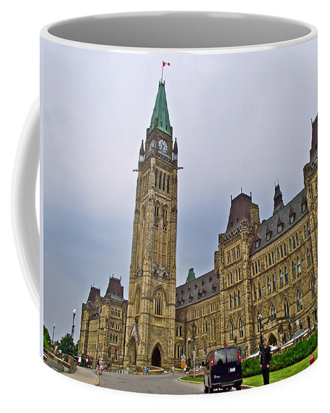 Another View Of Parliament Building In Ottawa Coffee Mug featuring the photograph Another View Of Parliament Building In Ottawa-on by Ruth Hager