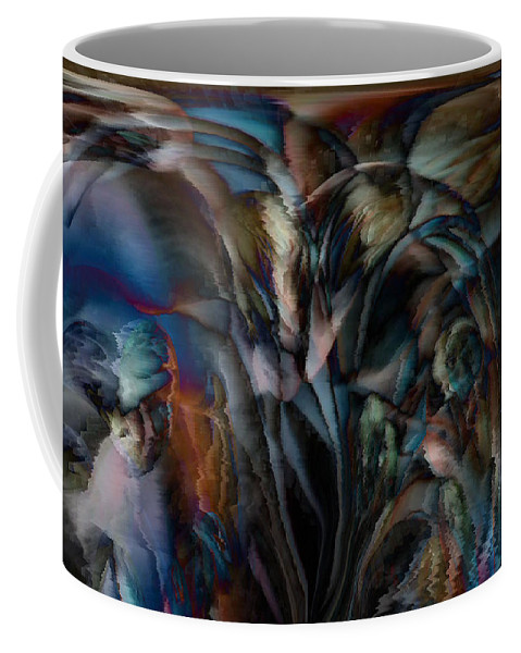 Another World Art Coffee Mug featuring the digital art Another World by Linda Sannuti