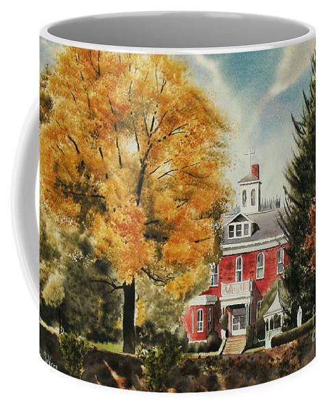 Antebellum Autumn Ironton Missouri Coffee Mug featuring the painting Antebellum Autumn Ironton Missouri by Kip DeVore