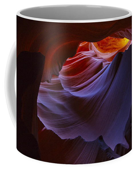 Antelope Coffee Mug featuring the photograph Antelope Canyon 6 by Ingrid Smith-Johnsen