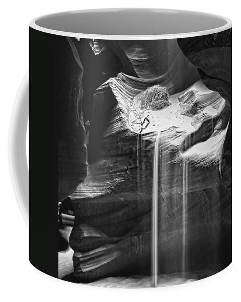 Antelope Canyon Sand Fall Coffee Mug featuring the photograph Antelope Canyon Sand Fall by Wes and Dotty Weber