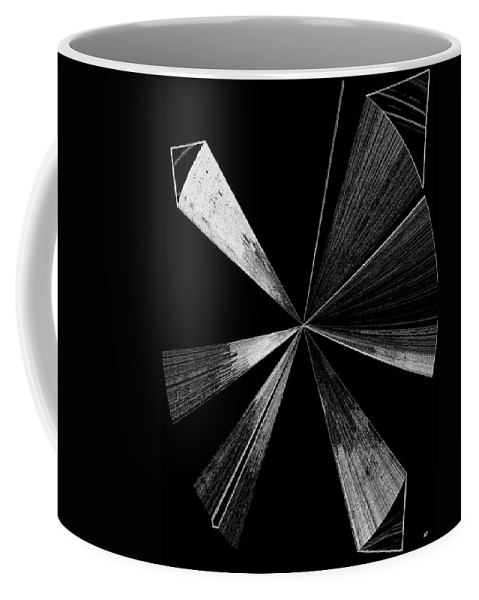 Antenna Coffee Mug featuring the digital art Antenna- Black And White by Will Borden