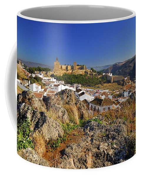 Alcazaba Coffee Mug featuring the photograph Antequera Alcazaba by Guido Montanes Castillo