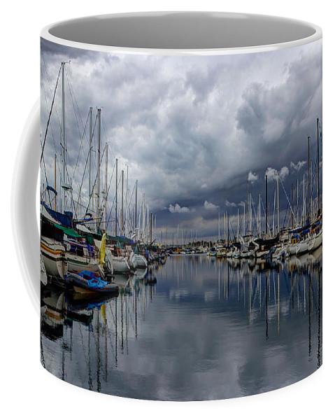 Dock Coffee Mug featuring the photograph Anticipating Rain by Heidi Smith