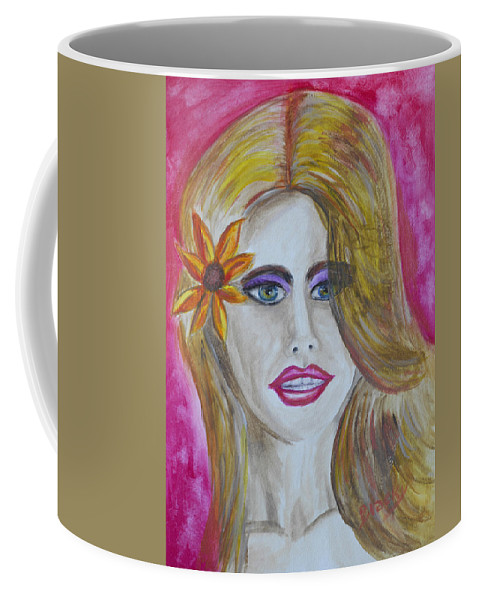 Portrait Coffee Mug featuring the painting Anticipation by Donna Blackhall