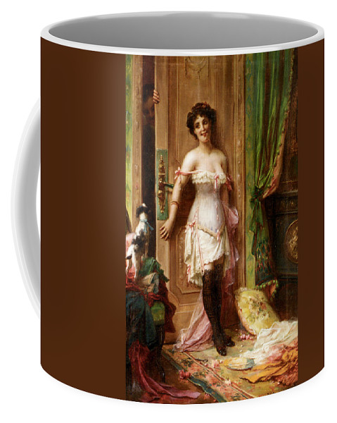Anticipation Coffee Mug featuring the digital art Anticipation by Hanz Zatzka