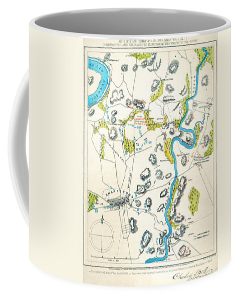 1862 Coffee Mug featuring the photograph Antietam, Maryland, 1862 by Granger