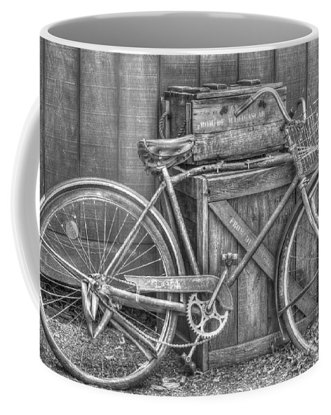 Bicycle Coffee Mug featuring the photograph Antiquated Bike by Bianca Nadeau