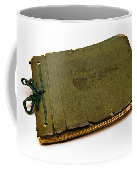 Aged Coffee Mug featuring the photograph Antique Autograph Book by Amy Cicconi