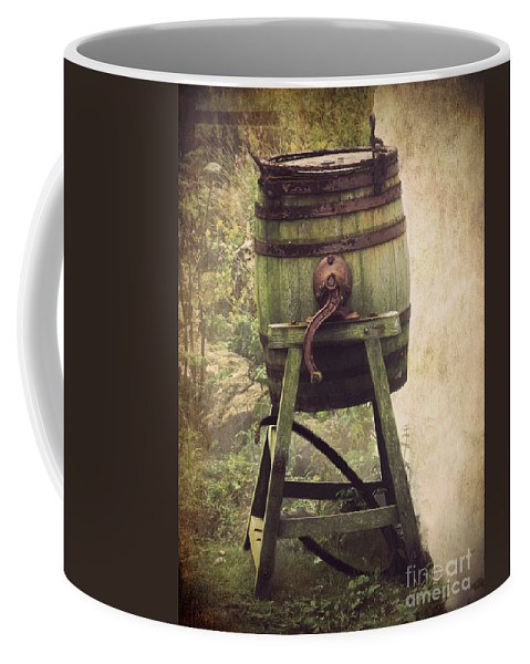 Barrel Coffee Mug featuring the photograph Antique Butter Churn by Linsey Williams