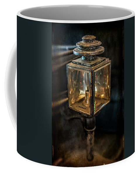 Vintage Coffee Mug featuring the photograph Antique Carriage Lamp by Paul Freidlund